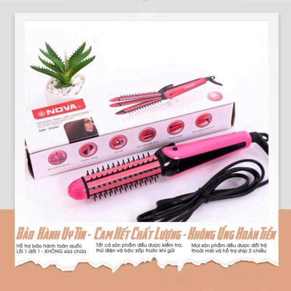 [Sale 50%] MÁY duỗi tóc đa năng nova-Máy Uốn Duỗi Đa Năng, Máy Duỗi Tóc Mini Mua Ngay máy Uốn Tóc Nova 3 Trong 1 Duỗi Tóc, Uốn Xoăn, Dập Xù Nhanh Chóng-BẢO HÀNH 1 ĐỔI 1