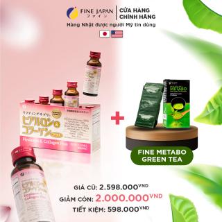 Combo ĐẸP Dáng Sáng Da Nước Collagen Hyaluron & Trà Xanh Metabo Green Tea Nhật Bản Fine Japan thumbnail
