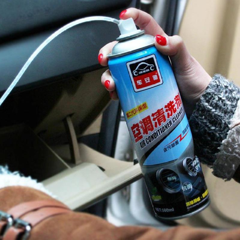 Chai xịt tạo bọt vệ sinh khử mùi điều hòa trên xe ô tô