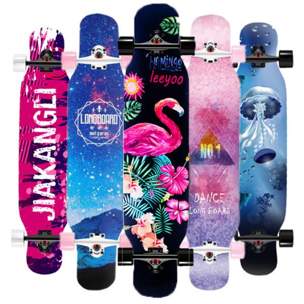 ván trượt thể thao longboard người lớn mặt nhám gỗ ép phong 7 lớp, ván trượt chuyên nghiệp, ván trượt thể thao