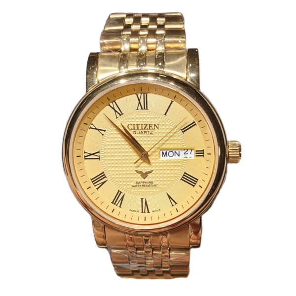 Đồng hồ Nam Citizen dây kim loại mặt sapphire chống xước bán chạy