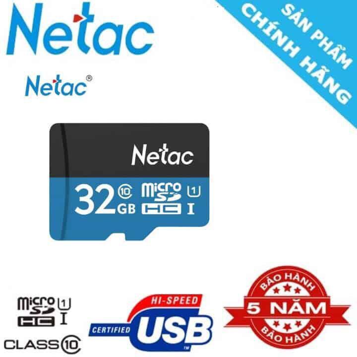 Chương Trình Ưu Đãi cho Thẻ Nhớ Netac 32GB