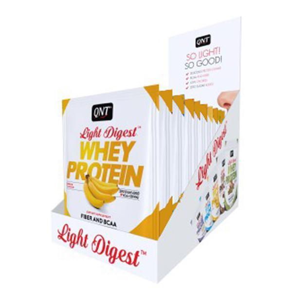 Combo 12 gói Bột Whey Protein có BCAA hương Chuối QNT 40g nhập khẩu