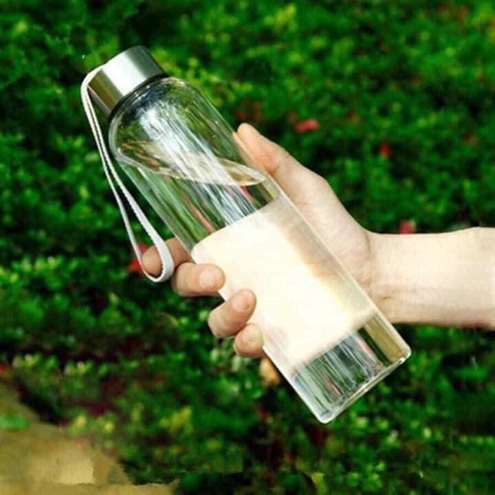 Bình đựng nước thủy tinh 500ml cho các bé siêu tiện dụng