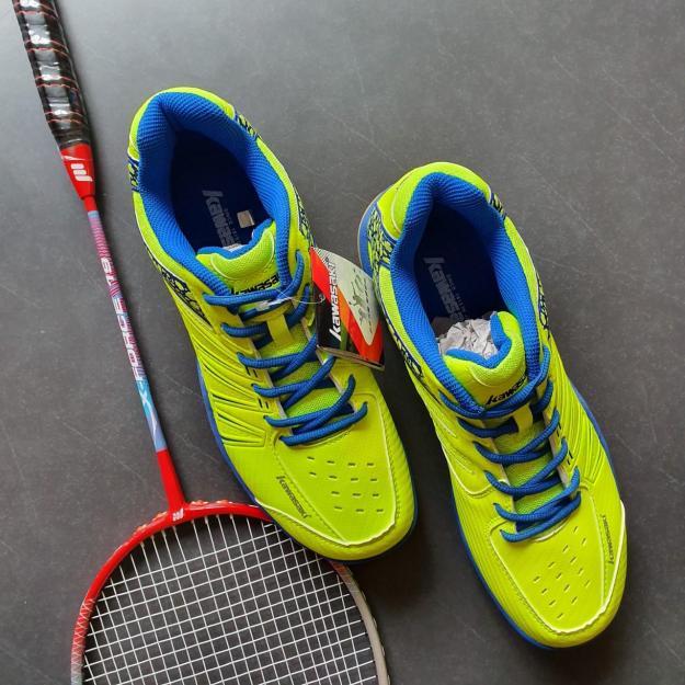 Giày chơi cầu lông nam nữ Kawasaki K062, giày cầu lông nam Kawasaki K062 mầu xanh chuối, giày chơi thể thao cầu lông, bóng chuyền, bóng bàn Kawasaki K062 giá rẻ