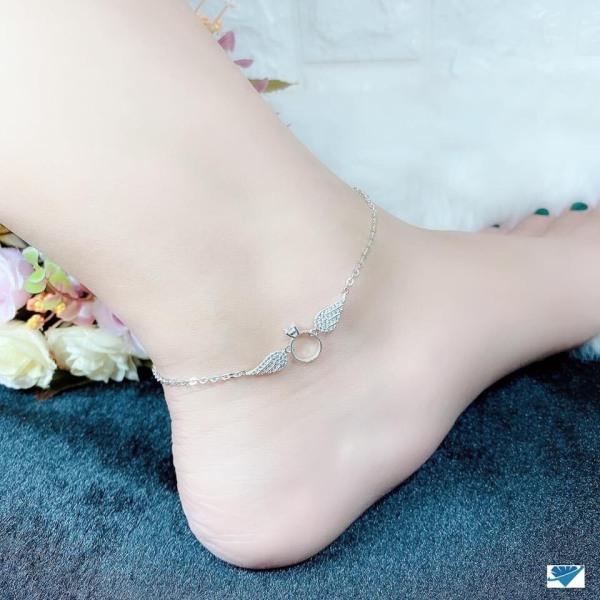 Lắc tay lắc chân bạc nữ đôi cánh thiên thần chất liệu bạc ta sáng đẹp/ JQN trang sức bạc chính hãng