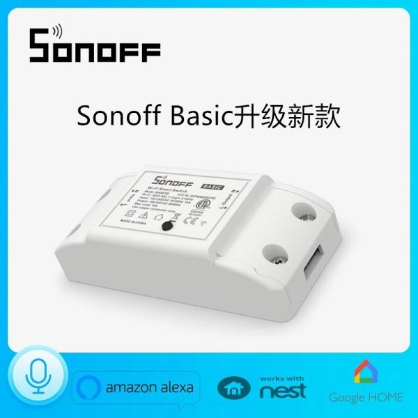 Công tắc WiFi thông minh Sonoff Basic EB10, Điều khiển từ xa qua app eWeLink Input 90-250V 50/60Hz 10A