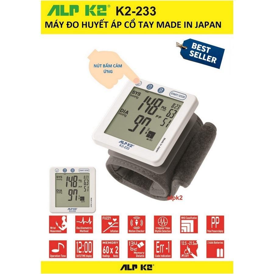 Nơi bán Máy đo huyết áp cổ tay  Huyết Áp Tự Động Alpk2