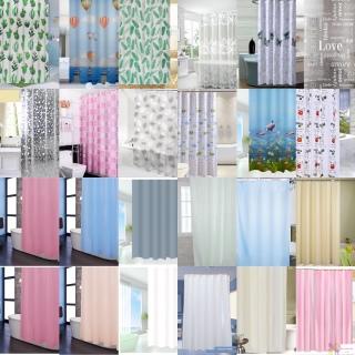 Rèm phòng tắm chống nước 1.8m có kèm móc vải PEVA siêu rẻ thumbnail