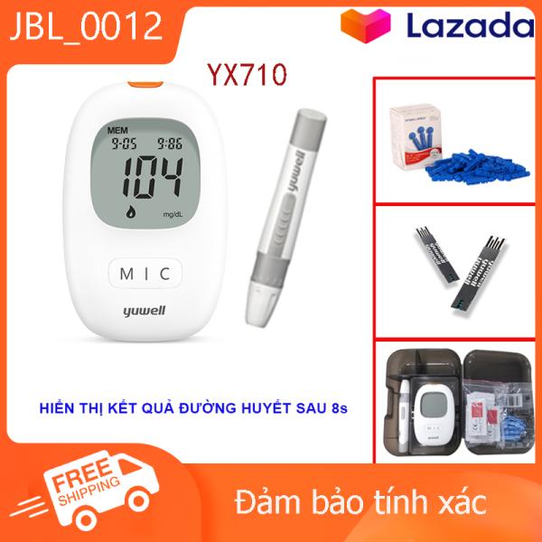 Nơi bán Máy đo đường huyết Yuwell 710, kèm 50 que thử đường huyết và50 kim lấy máu.