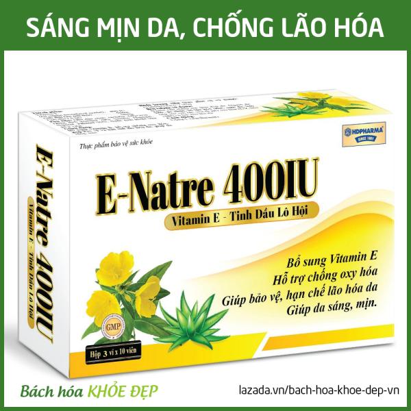 Viên uống bổ sung Vitamin E 400 IU, tinh dầu lô hội làm đẹp da, chống lão hóa, ngừa nếp nhăn - Hộp 30 viên dùng 1 tháng