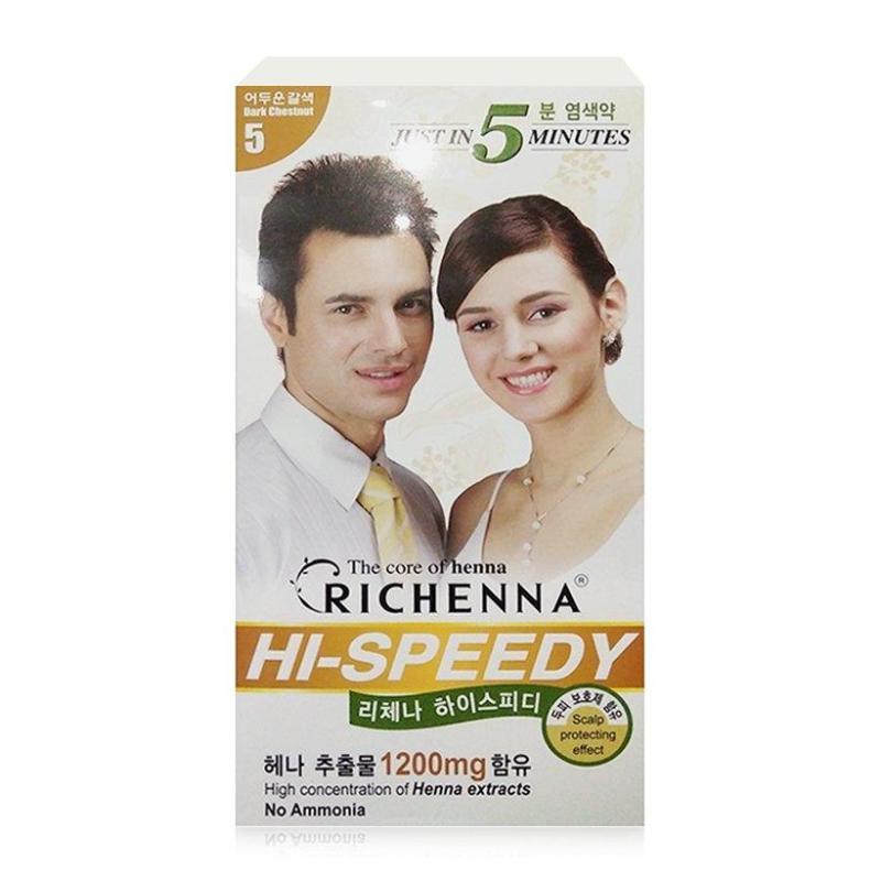 Nhuộm tóc phủ bạc thảo dược Richenna Hi-Speedy ( 6 MÀU) giá rẻ