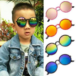 Trẻ Em Cổ Điển Kính Mát, Kính Râm Tròn Nhiều Màu Mát Mẻ Cho Bé Trai Bé Gái, Bóng Ngoài Trời Mặt Trời Mắt Bảo Vệ Eyeware
