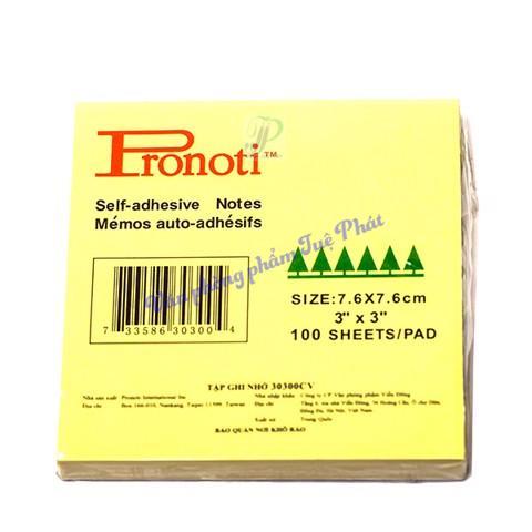 Lốc 6 xấp giấy note vàng Pronoti 3x3