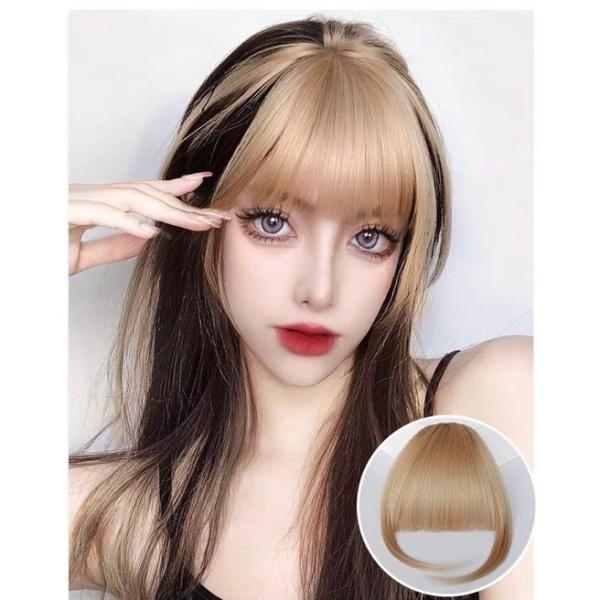 tóc mái giả Jennie - màu vàng kim