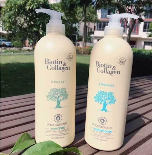 [Hàng Chuẩn] Biotin Collagen  Cặp Dầu Gội, Xả 1000ml nhập khẩu