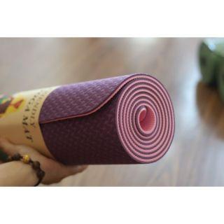 Thảm tập YOGA TPE Cao Cấp 2 lớp- 6mm dộ bám cao , chống trơn trượt, tặng Bao Đựng Thảm Tập Yoga 3