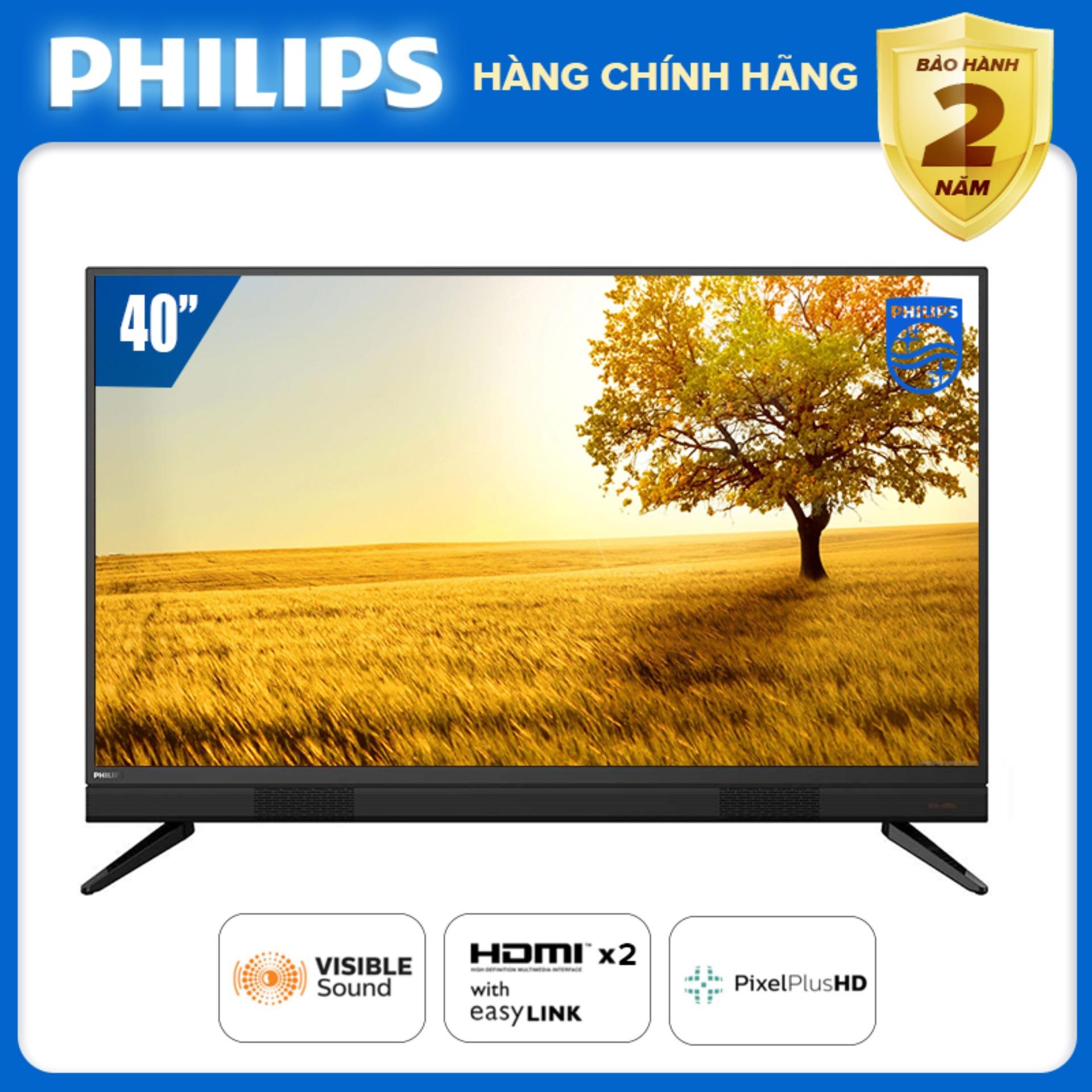 Bảng giá Tivi Philips 40 inch LED FULL HD (Digital TV DVB-T2 hàng Thái Lan) tivi giá rẻ - Bảo hành 2 năm tại nhà - Tặng quà USB 16G - 40PFT5583/74 [Đặt hàng trước]