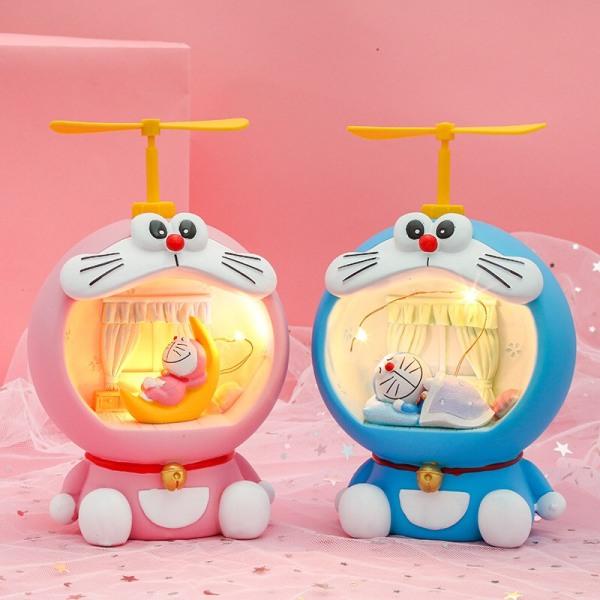 Bảng giá Đèn ngủ LED trang trí hình Doraemon dễ thương 2 màu lựa chọn, Đèn ngủ decor phòng xinh xắn