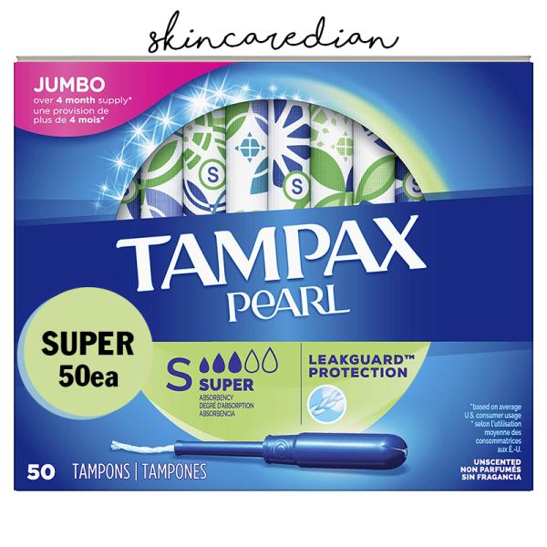 TAMPAX PEARL - Tampon siêu thấm hút size 3 giọt - hộp 50 miếng giá rẻ