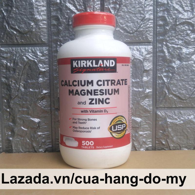 Viên Uống Kirkland Calcium Citrate Magnesium and Zinc With Vitamin D3 500 viên - Kirkland của Mỹ cao cấp