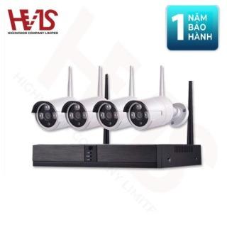 [HCM]Camera Bộ WiFi Kit 5G + 4 Camera Sử Dụng Trong Nhà Và Ngoài Trời 1080P - Không bao gồm ổ cứng thumbnail