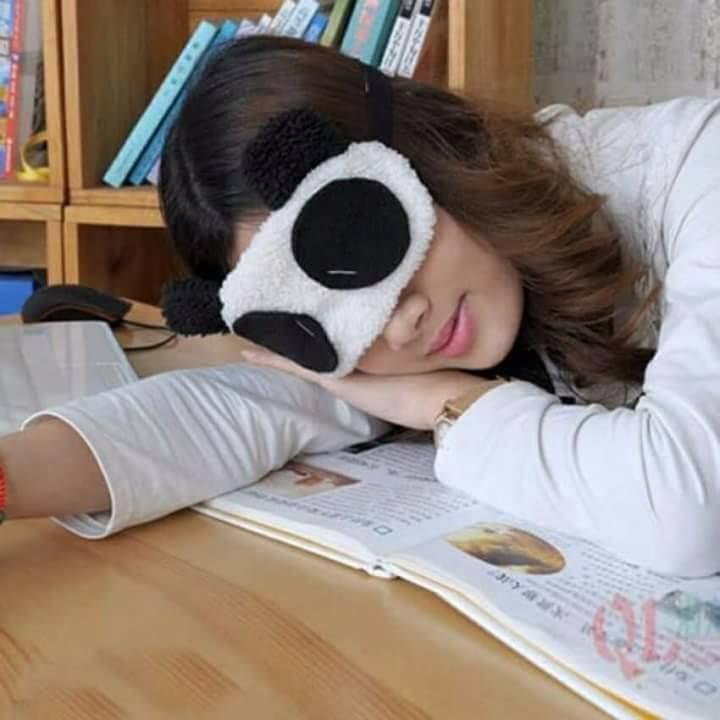 Gấu Panda Tấm Bịt Mắt Ngủ Hình Gấu Panda