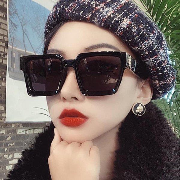 Giá bán Kính dâm gọng vuông to - Bobu Clothes - Mắt kính thời trang nữ - kiểu dáng sang chảnh Hàn Quốc - chất liệu nhựa cao cấp- hai màu trắng đen dễ phối đồ