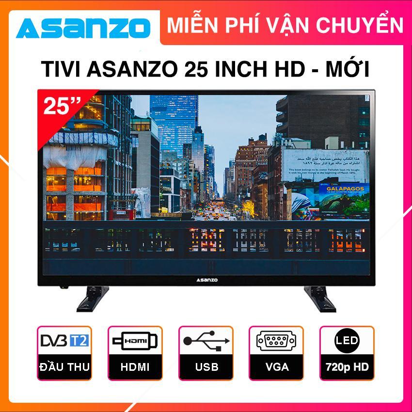 Mã Khuyến Mại tại Lazada cho [Voucher 50K] Tivi Led Asanzo 25 Inch HD - Model 25T350, 25S200T2 (Đen) HD Ready, Tích Hợp DVB-T2, Tivi Giá Rẻ - Bảo Hành 2 Năm