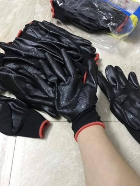 2 bịch (24 đôi)  găng tay bảo hộ phủ bàn sơn PU dành cho xây dựng, cơ khí, free size