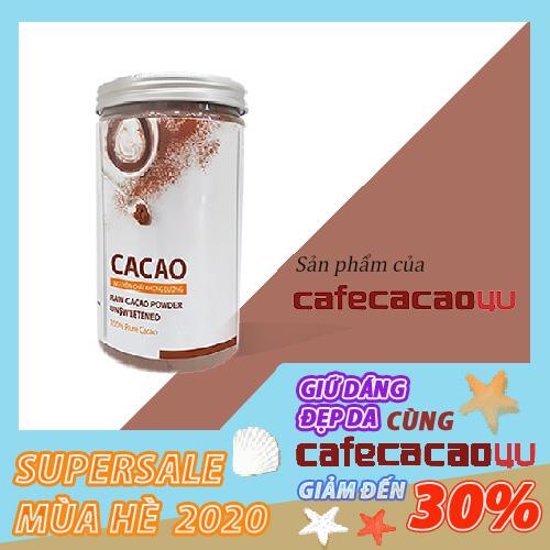 Voucher Ưu Đãi Bột Cacao Nguyên Chất Không đường- Cacao4u Hũ 440gr