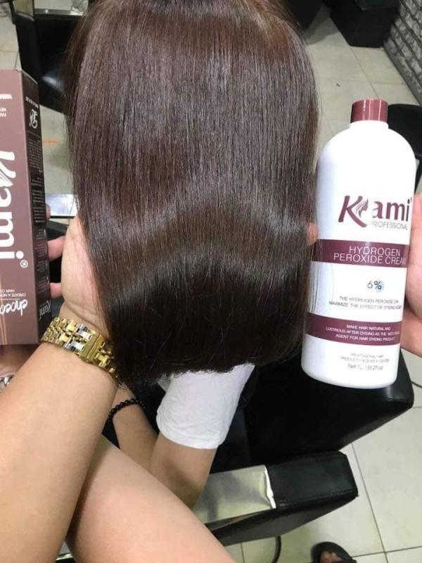 Thuốc nhuộm tóc màu Cafe (5C) KHÔNG TẨY + TẶNG kèm trợ nhuộm 100ml cao cấp