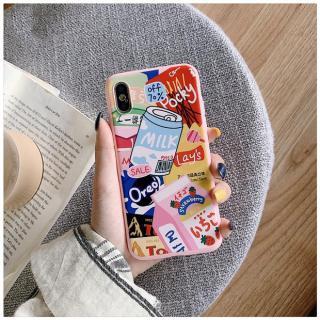 Ốp lưng iPhone 6 6s 6Plus 6sPlus 7 7Plus 8 8Plus X XS XR XS Max 11 11 pro 11 pro max ( Có chọn mẫu ) hoạ tiết bánh kẹo màu hồng siêu dễ thương HOT a47 thumbnail