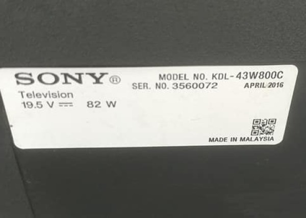 Bảng giá Bo khiển 43W800C