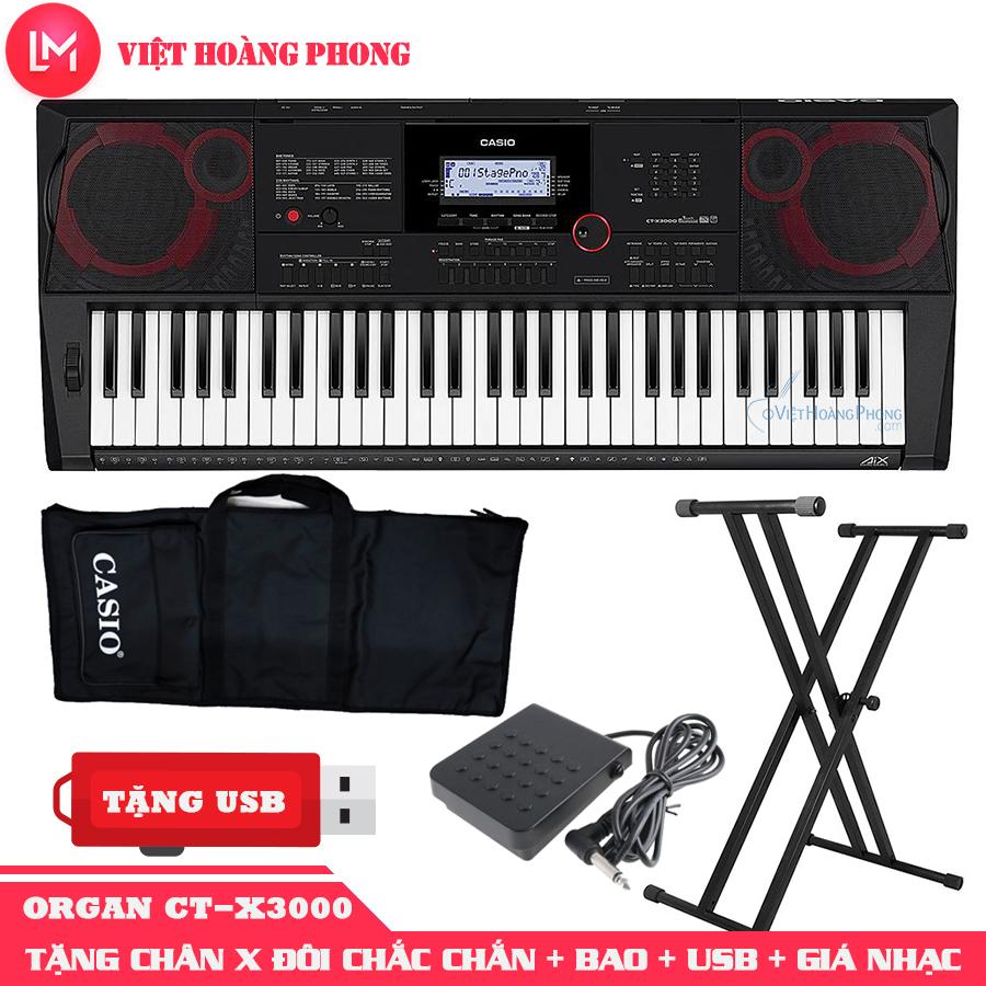 Đàn Organ Casio CT-X3000 kèm + CHÂN X ĐÔI + Pedal + USB + Giá nhạc +AD + Bao đàn - Bảo hành 2 năm - Việt Hoàng Phong