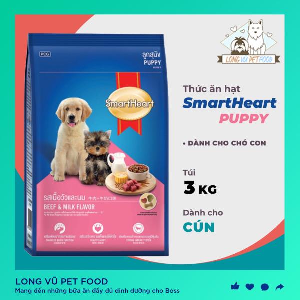 Thức ăn dạng hạt cao cấp Smartheart Puppy (dành cho chó dưới 1 năm tuổi) 3kg
