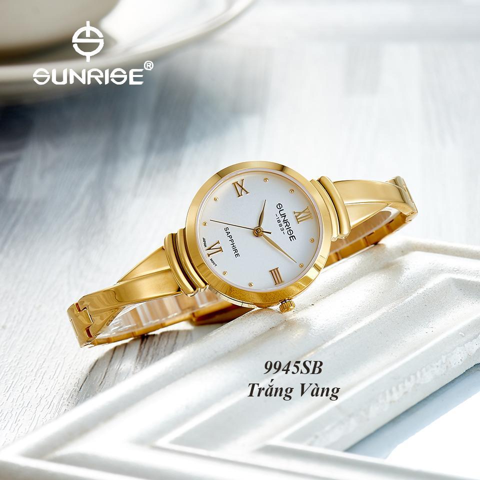 Đồng hồ nữ siêu mỏng Sunrise 9945SB Fullbox hãng kính Sapphire chống xước bán chạy