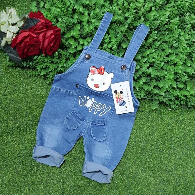 Yếm jean quần lỡ cho bé trai/ bé gái