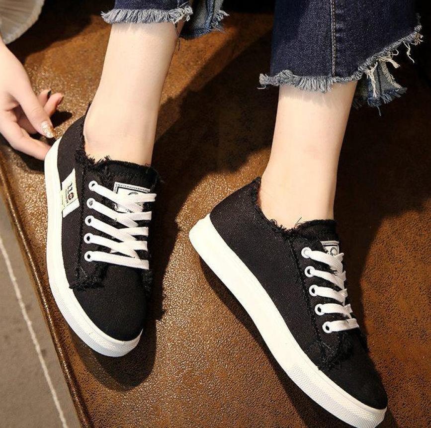Giày thể thao nữ quần váy đều phù hợp 3 màu Đen - Trắng - Xanh GN04 giá rẻ