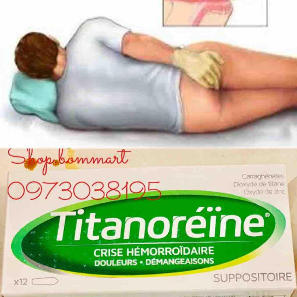 Viên đặt đặc trị trĩ nội titanoreine pháp hộp 12 viên cao cấp