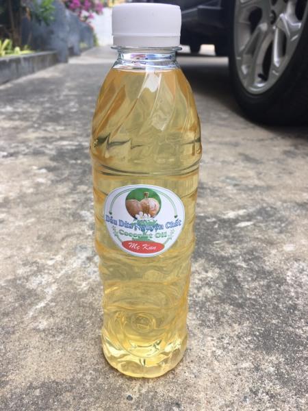 Dầu dừa nguyên chất nhà làm (chai 500ml), Dầu dừa nấu thủ công siêu sạch, chất lượng cao giá rẻ