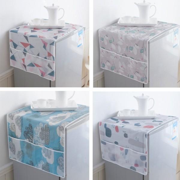 Miếng Phủ Đầu Tủ Lạnh - Tấm Phủ Đầu Tủ Lạnh Chống Bụi Dày Đẹp