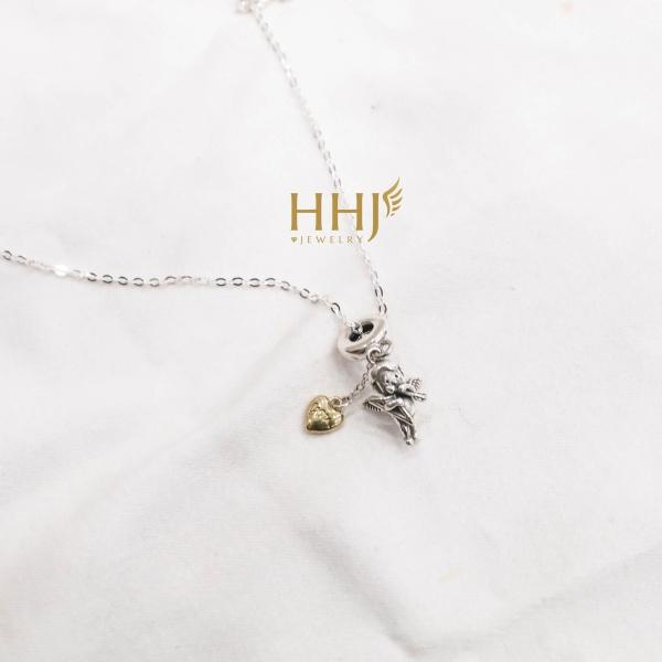 Dây chuyền charm thần tình yêu cupid - HHJ - Bạc S95