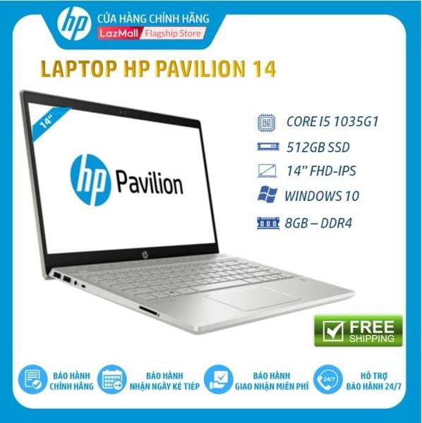 Bảng giá Laptop HP Pavilion 14-ce3026TU, Core i5-1035G1(1.00 GHz,6MB),8GB RAM DDR4,512GB SSD,Intel UHD Graphics,14FHD,Wlan ac+BT,3cell,Win 10 Home 64,Gold,1Y WTY-8WH93PA - Hàng Chính Hãng Phong Vũ