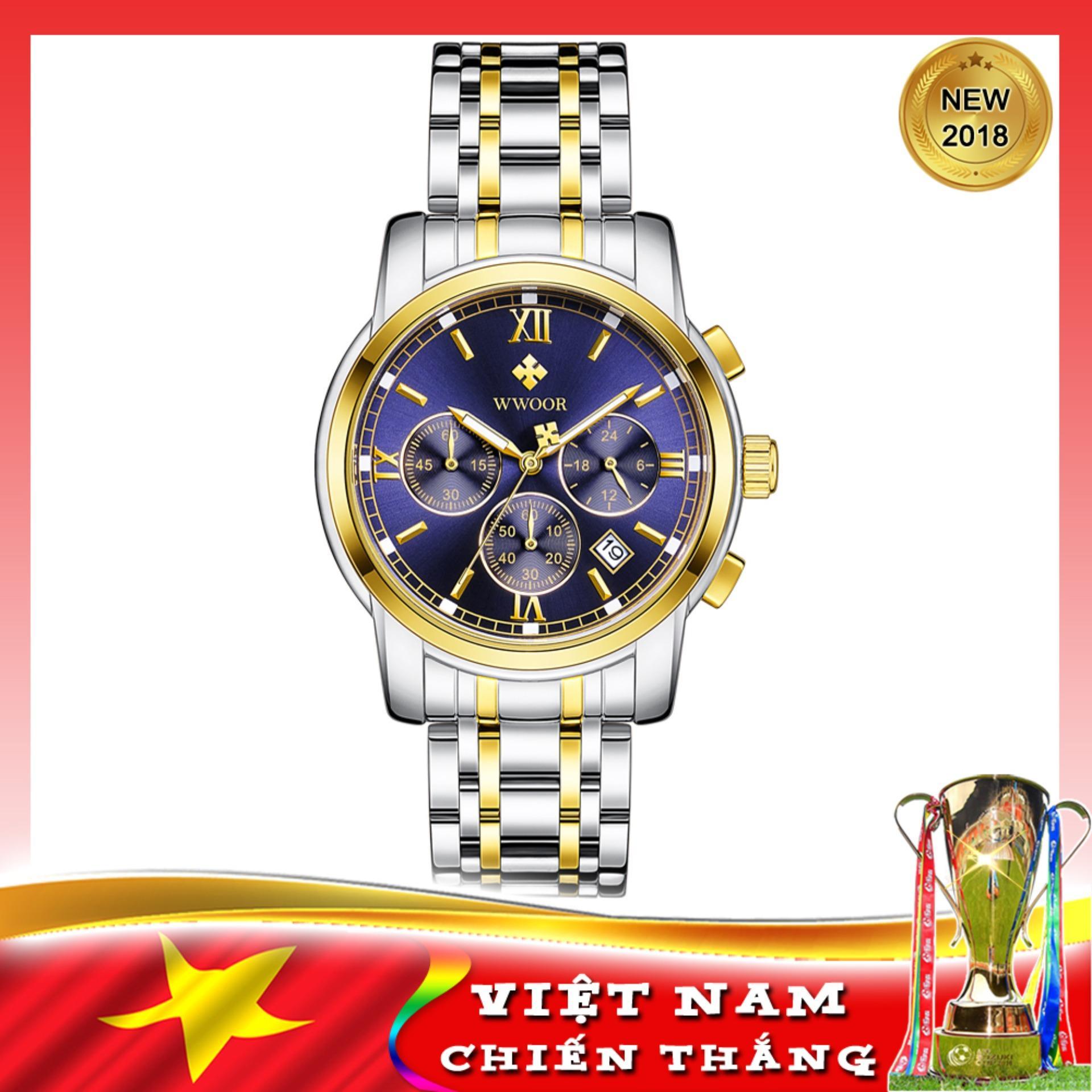 Nơi bán Đồng hồ nam mẫu mới 2018 sang trọng và đẳng cấp WWOOR 8864, tặng kèm Pin SONY 626 JAPAN