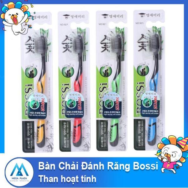 Bàn chải đánh răng than hoạt tính Bossi Hàn Quốc siêu mềm -AL ( Màu ngẫu nhiên ) giá rẻ
