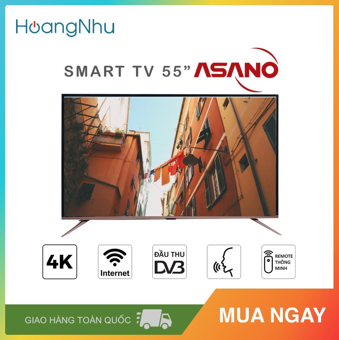 Bảng giá Smart Voice TV 4K Asano 55 inch Kết nối Internet Wifi 55EK7 (UHD 4K, Hệ điều hành 7.1.1, Điều khiển giọng nói, Bluetooth, Truyền hình KTS, màu đen) - Bảo hành toàn quốc 2 năm