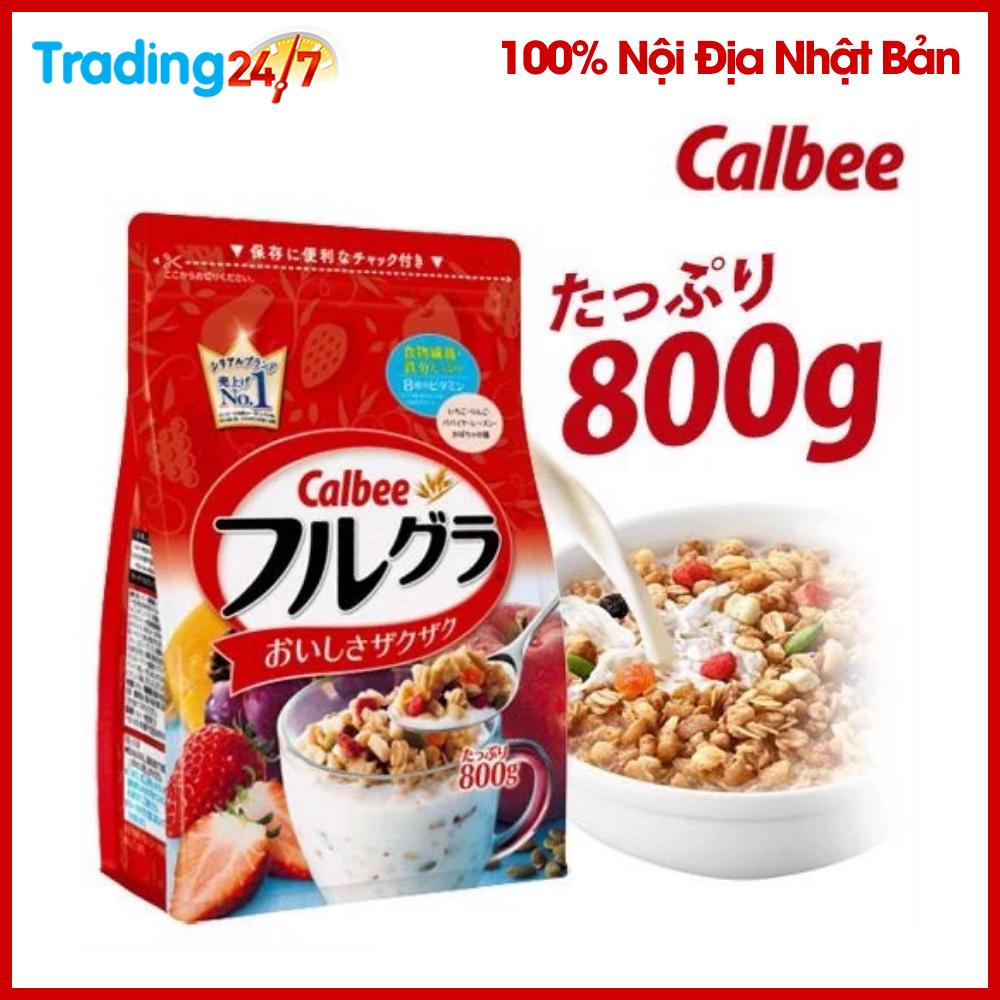 (HSD T11/2020) Ngũ Cốc Calbee Màu đỏ 800g Nhật Bản Cùng Giá Khuyến Mãi Hot