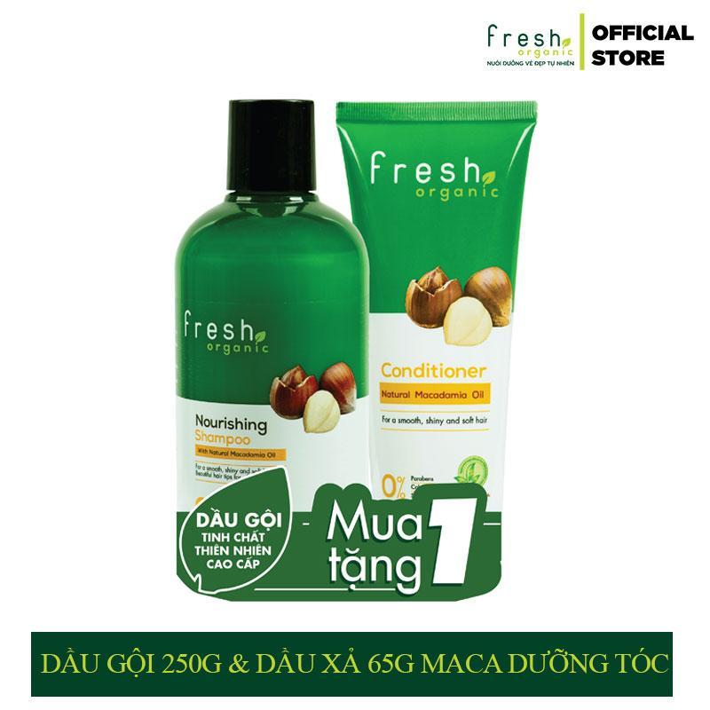 Combo Dầu Gội 250g & Dầu Xả 65g Fresh Organic Macadamia dưỡng tóc giá rẻ