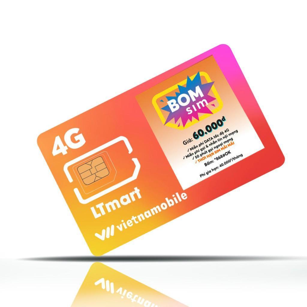 Giá SIM 4G VietnamMobile  Siêu thánh sim - Bom sim mới Tặng 120GB mỗi Tháng̣ miễn phí cuộc gọi + tin nhắn.+ tặng ngay 40,000đ trong tài khoàn chính,